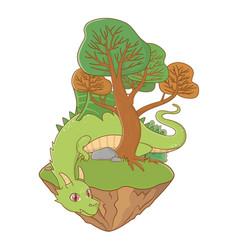 isolated dragon cartoon design vector image