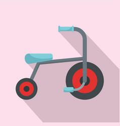Kid tricycle icon flat style vector