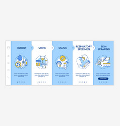 Laboratory samples onboarding template vector