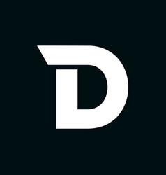 logo letter d wing vector image