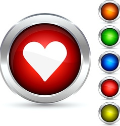 Love button vector image