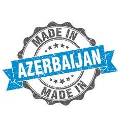 made in azerbaijan round seal vector image