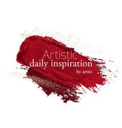 make-up grunge glitter brush strokes clipart in vector image
