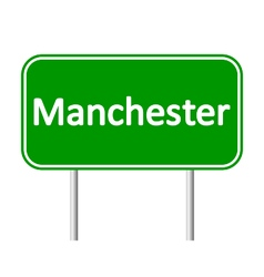 Manchester road sign vector