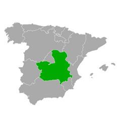 Map castilla-la mancha in spain vector