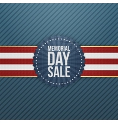 Memorial Day Sale patriotic Banner and Ribbon vector