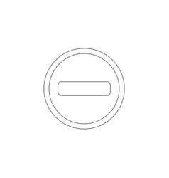 minus flat icon vector image