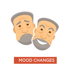 mood changes and swings symptom in person vector image