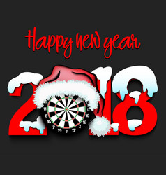 New year numbers 2018 and darts vector