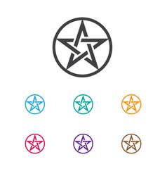 of religion symbol on baphomet vector image