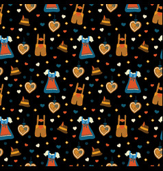 Oktoberfest seamless pattern background vector