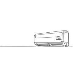 One single line drawing wall air conditioner vector