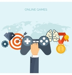 Online games Joystick Web vector image