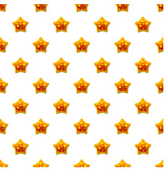 orange star shaped candy pattern vector image