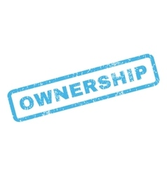 Ownership Rubber Stamp vector image