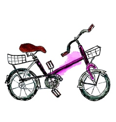 Painted Bicycle vector