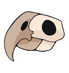 parrot skull cartoon motif set vector image
