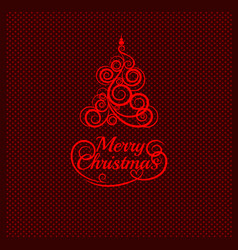 patterned florid christmas tree on a background vector image