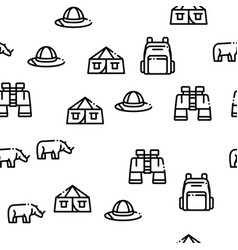 Safari travel seamless pattern vector