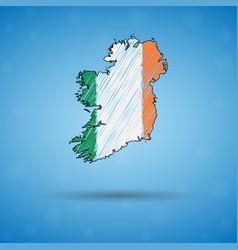 Scribble map ireland sketch country map vector