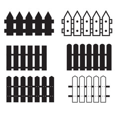 set fence icon on white background fence sign vector image
