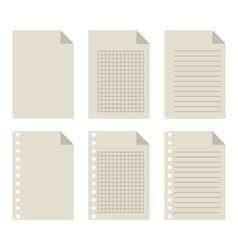 Set of blank sheets of paper vector