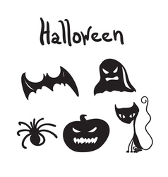 Set of Halloween characters for desigen vector image