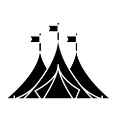 shelter tents icon vector image