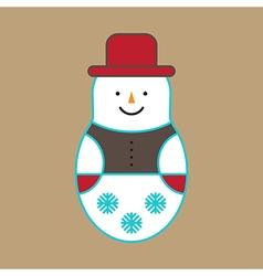 Snowman Ornament vector