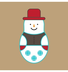 Snowman Ornament vector image