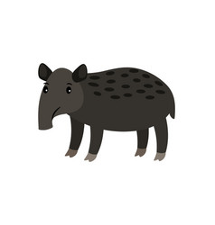 tapir cartoon icon vector image
