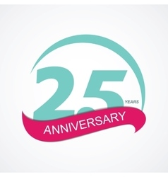 Template Logo 25 Anniversary vector
