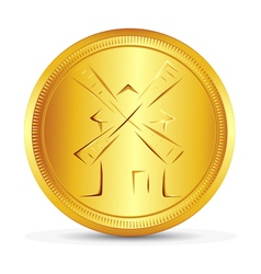 The gold coin vector