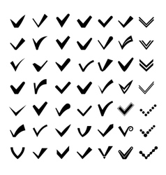 Ticks or check marks icons vector image