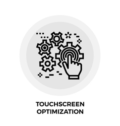 Touchscreen Optimization Line Icon vector image