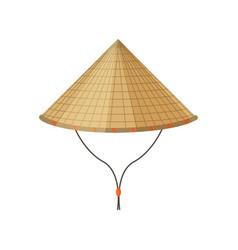 Traditional asian conical non-la hatit vector