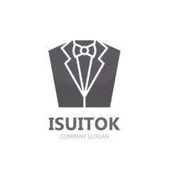 Tuxedo logo design Jacket logo Suit logo vector