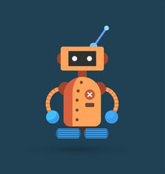 Ute vintage robot vector