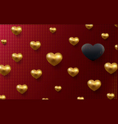 valentines day holiday background with 3d vector image