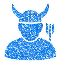 warrior grunge icon vector image vector image