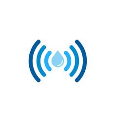 Water wifi logo icon design vector