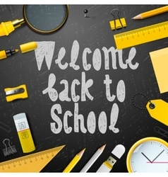 Welcome back to school background vector