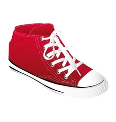 young shoes fashion icon vector image