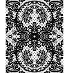 beautiful floral lace with a circular elements vector image vector image