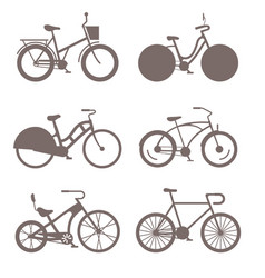 bicycles vintage style old bike transport vector image