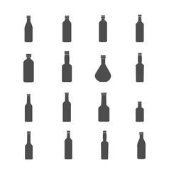 bottle icons set vector image