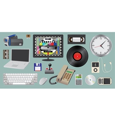 Electronic device and media vector image vector image