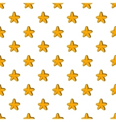 Five pointed star pattern cartoon style vector image