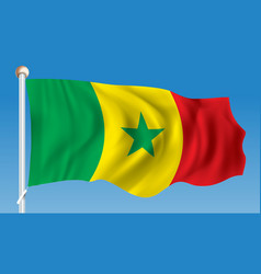 flag of senegal vector image vector image
