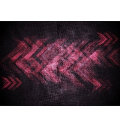 Grunge tech background with arrows vector image vector image